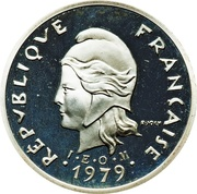 10 Francs (Piedfort silver) – obverse