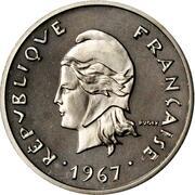 10 Francs (Piedfort nickel) – obverse