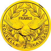 2 Francs (Piedfort gold) – reverse