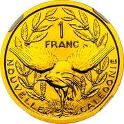 1 Franc (Piedfort gold) – reverse