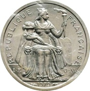 1 Franc (Piedfort silver) – obverse