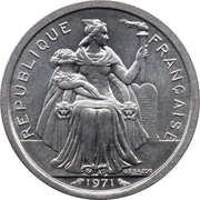 1 Franc (without IEOM) – obverse