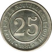 25 Centimes (Le Nickel) – reverse