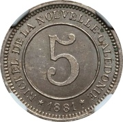 5 Centimes (Le Nickel) – reverse