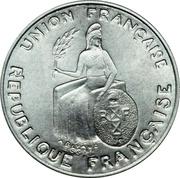 50 Centimes (Essai aluminium, raised rim) – obverse