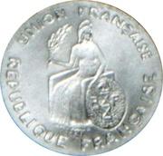 50 Centimes (Essai aluminium, flat rim) – obverse