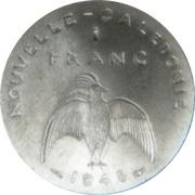 1 Franc (Essai aluminium, flat rim) – reverse