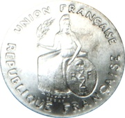 2 Francs (Essai aluminium, flat rim) – obverse