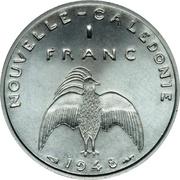 1 Franc (Essai aluminium, raised rim) – reverse