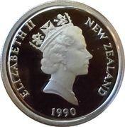 5 Cents - Elizabeth II (3rd Portrait; Treaty of Waitangi, Silver Proof) – obverse