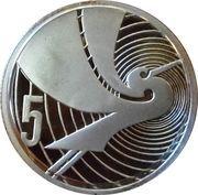 5 Cents - Elizabeth II (3rd Portrait; Treaty of Waitangi, Silver Proof) – reverse