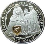 20 Dollars - Elizabeth II (Golden Wedding Anniversary) -  reverse