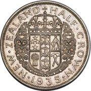 ½ Crown - George V -  reverse