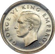 3 Pence - George VI (2nd type) – obverse