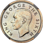 3 Pence - George VI (3rd type) – obverse