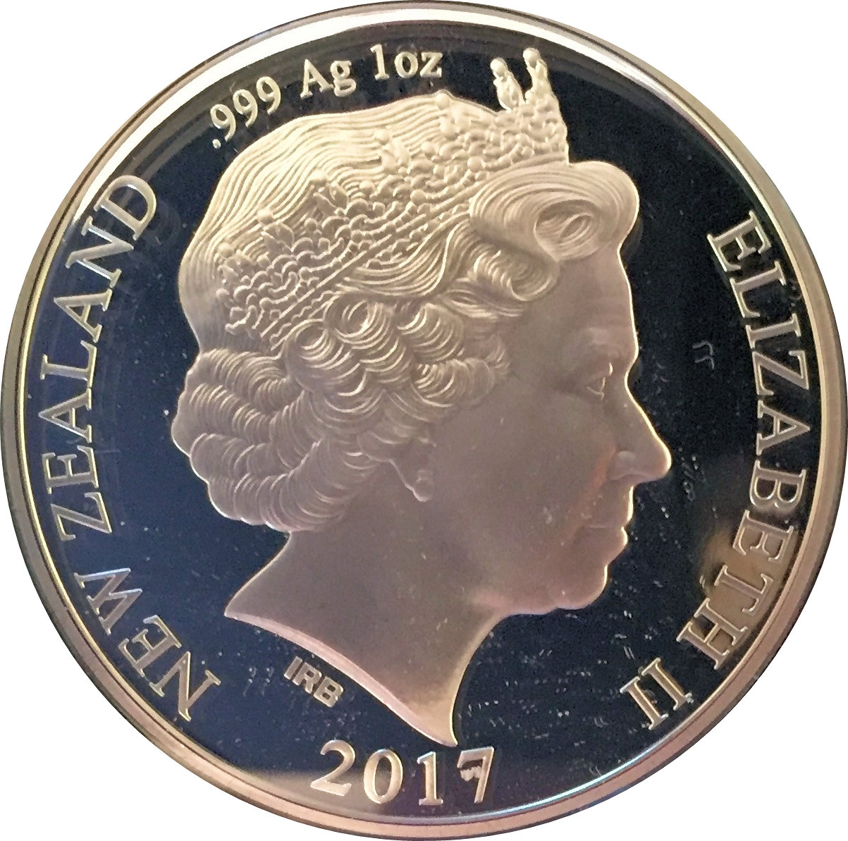 1 Dollar Elizabeth Ii 4th Portrait 50 Years Of New Zealand