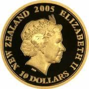 10 Dollars - Elizabeth II (4th Portrait; 90th Anniversary of ANZAC) -  obverse