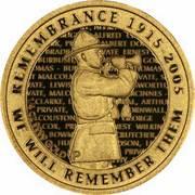 10 Dollars - Elizabeth II (4th Portrait; 90th Anniversary of ANZAC) -  reverse
