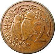 2 Cents - Elizabeth II (3rd portrait) – reverse