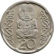 20 Cents - Elizabeth II (4th portrait; magnetic) -  reverse