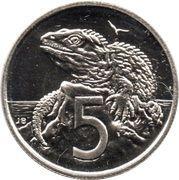 5 Cents - Elizabeth II (3rd portrait) -  reverse
