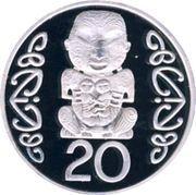 20 Cents - Elizabeth II (3rd portrait; Pukaki, Silver Piedfort) -  obverse