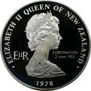 1 Dollar - Elizabeth II (2nd Portrait; Coronation Jubilee, Silver Proof) -  obverse