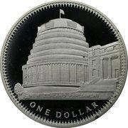 1 Dollar - Elizabeth II (2nd Portrait; Coronation Jubilee, Silver Proof) -  reverse