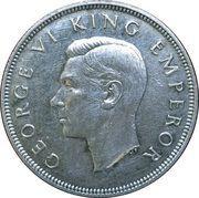 ½ Crown - George VI (Centennial issue) – obverse