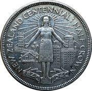 ½ Crown - George VI (Centennial issue) – reverse