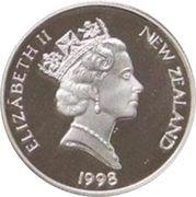 5 Dollars - Elizabeth II (3rd Portrait; Four Stars, Silver Proof) -  obverse