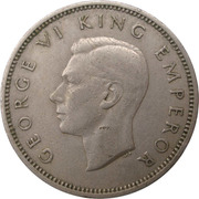 1 Shilling - George VI (2nd type) – obverse