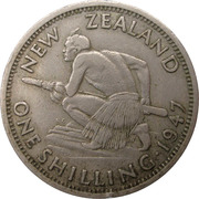 1 Shilling - George VI (2nd type) – reverse