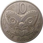 10 Cents / 1 Shilling - Elizabeth II (2nd portrait) – reverse