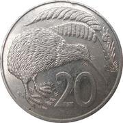 20 Cents - Elizabeth II (3rd portrait; Kiwi) -  reverse
