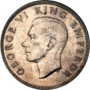 ½ Crown - George VI (1st type) – obverse