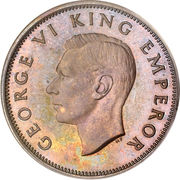 ½ Penny - George VI (1st type) – obverse