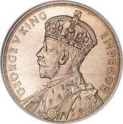 1 Crown - George V (Waitangi) – obverse
