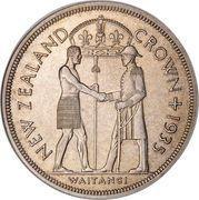 1 Crown - George V (Waitangi) – reverse