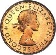 ½ Penny - Elizabeth II (1st portrait) – obverse