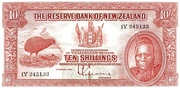 10 Shillings (Tawhiao) – obverse