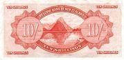 10 Shillings (Tawhiao) – reverse
