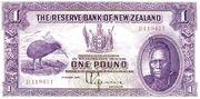 1 Pound (Tawhiao) – obverse