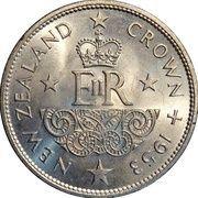 1 Crown - Elizabeth II (1st portrait; Coronation) – reverse