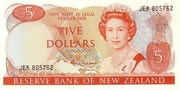 5 Dollars (Elizabeth II) -  obverse