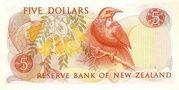5 Dollars (Elizabeth II) -  reverse