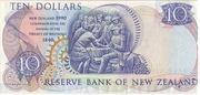 10 Dollars (Treaty of Waitangi) -  reverse