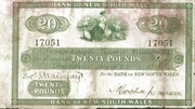 20 Pounds (Bank of New South Wales) – obverse