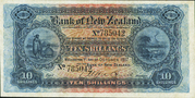 10 Shillings (Bank of New Zealand) – obverse