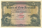 5 Pounds (Bank of New Zeland) – obverse